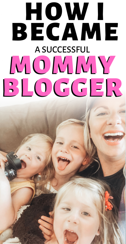 Pinterest image about having a successful stay at home mom blog