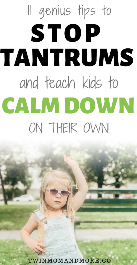 Pinterest image about calming strategies for children