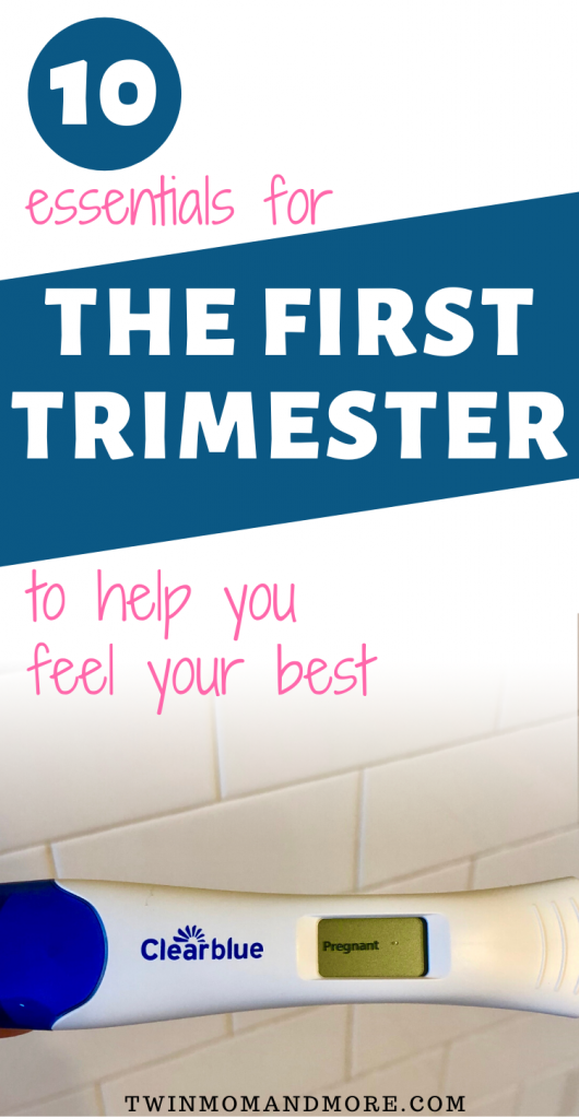 Pinterest image for pregnancy essentials for the first trimester