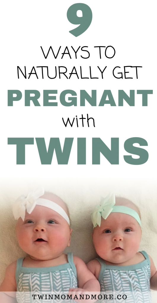 Pinterest image for how to get pregnant with twins naturally.
