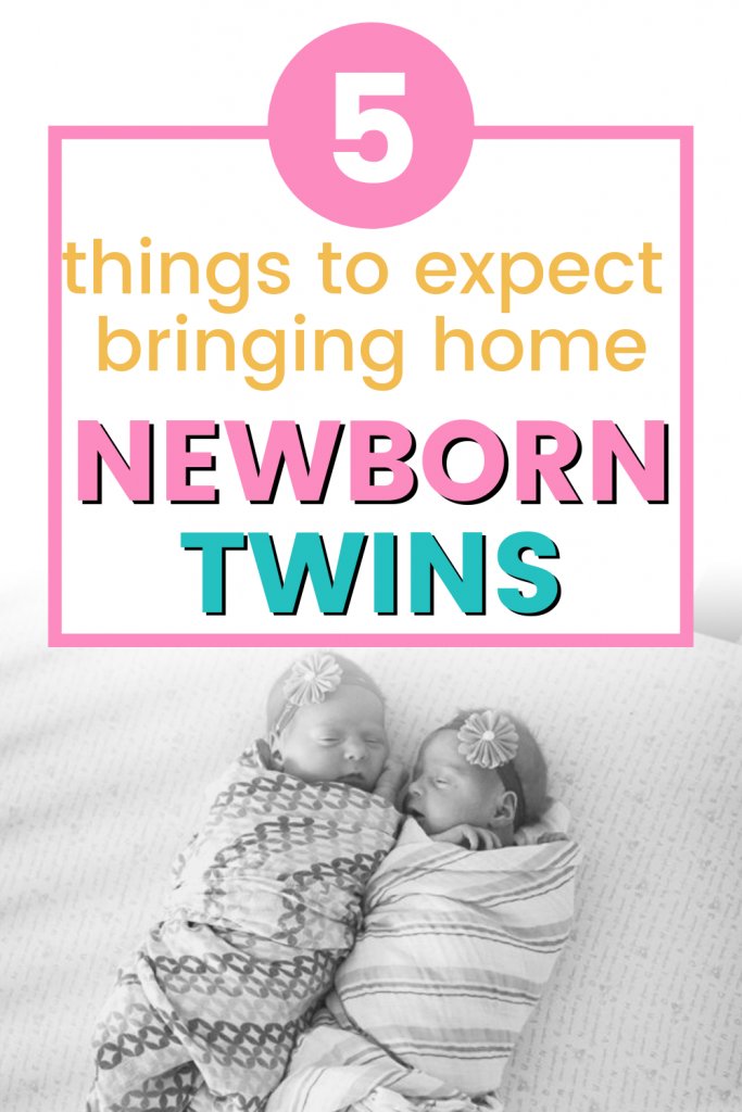 Pinterest image about surviving life with newborn twins