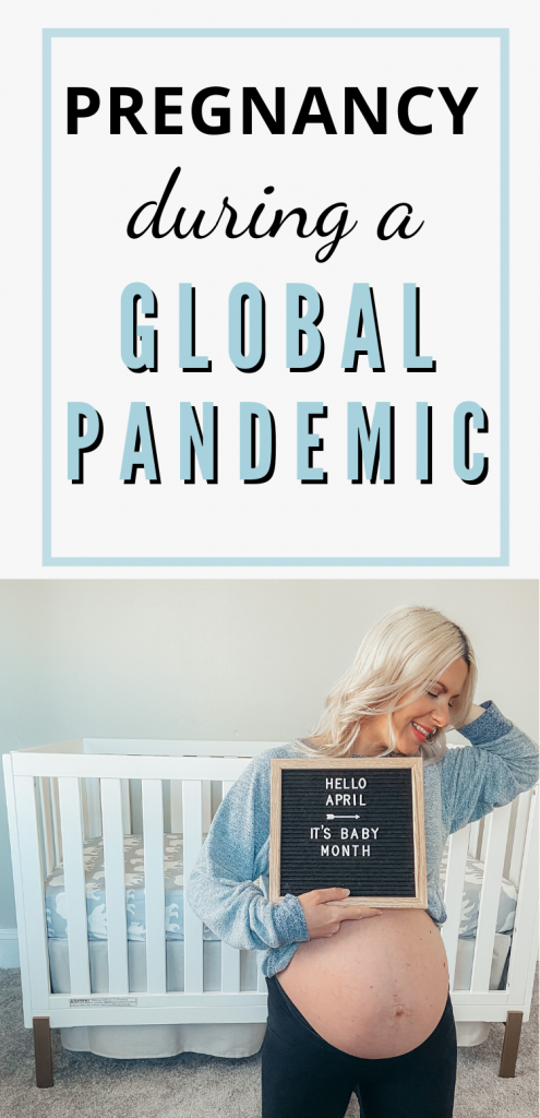 Pinterest image about being pregnant during a pandemic.