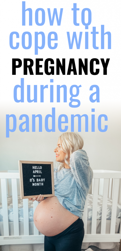 Pinterest image about coping with pregnancy during a pandemic