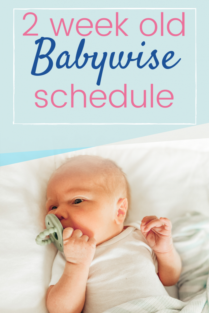 2 week old baby routine babywise