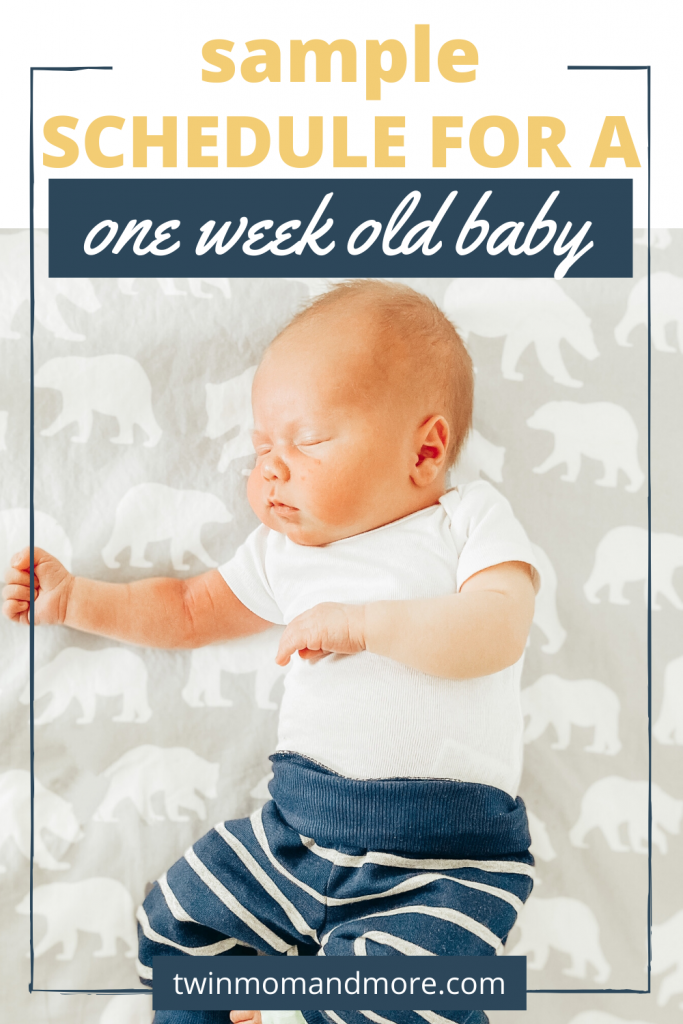 1 week old baby routine