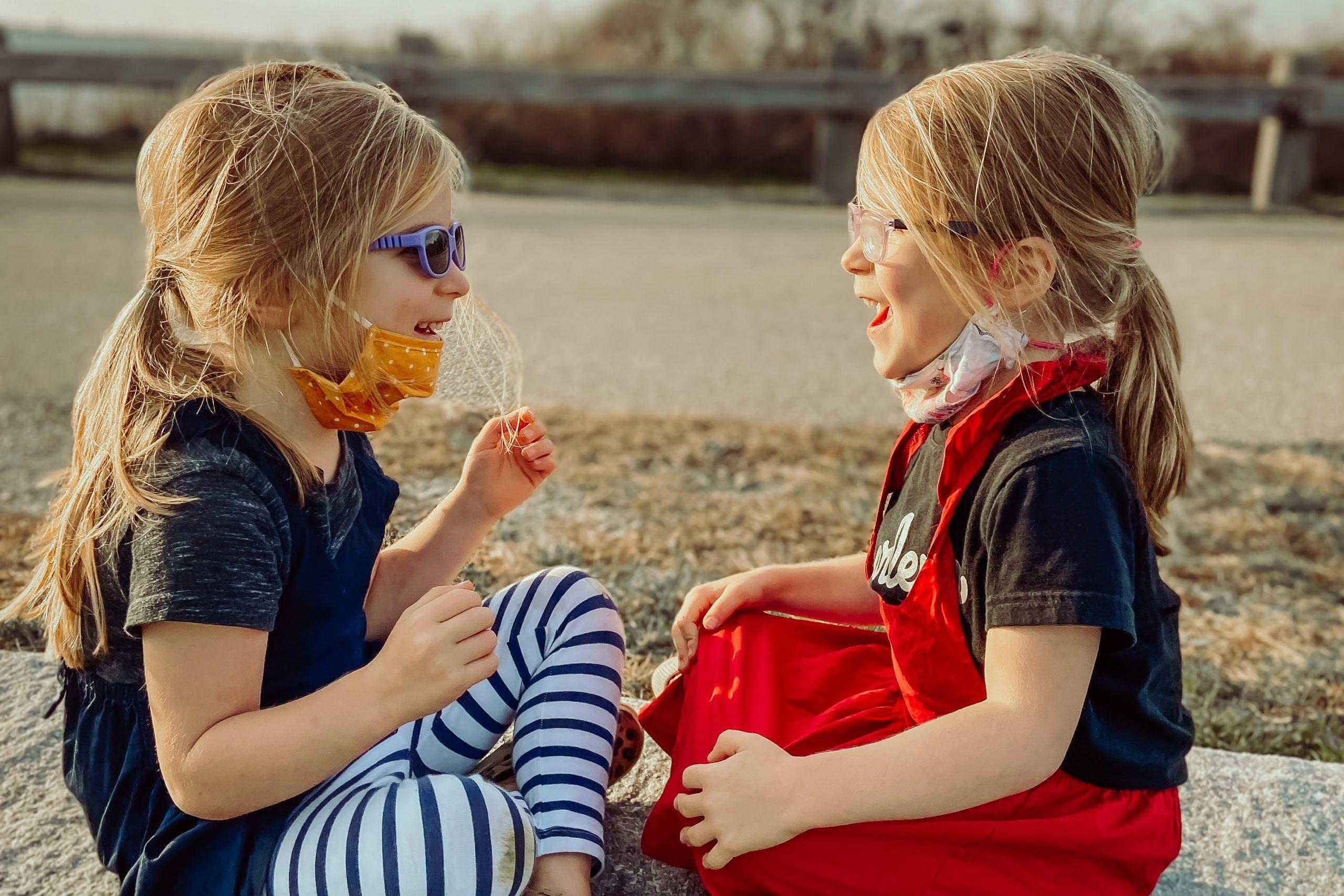 raising identical twin girls