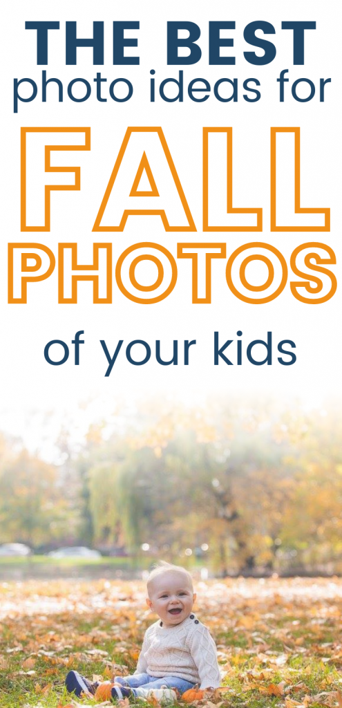 Pinterest image for fall picture ideas for toddlers